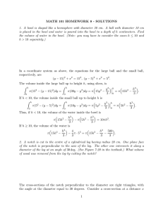 MATH 101 HOMEWORK 8 - SOLUTIONS