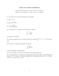 MATH 101 SAMPLE MIDTERM 2