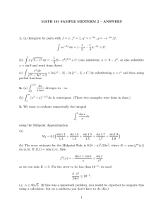 MATH 101 SAMPLE MIDTERM 2 – ANSWERS 1. 2. g