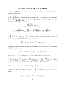 MATH 101 HOMEWORK 6 – SOLUTIONS convergent of divergent.