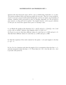 MATHEMATICS 120 PROBLEM SET 1