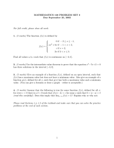 MATHEMATICS 120 PROBLEM SET 3 Due September 25, 2002 1. 2.