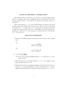 MATH 120 MIDTERM 1 INFORMATION