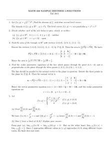 MATH 226 SAMPLE MIDTERM 1-SOLUTIONS Fall 2014 py − x