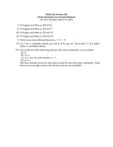 Math 220, Section 203 Study Questions for Second Midterm