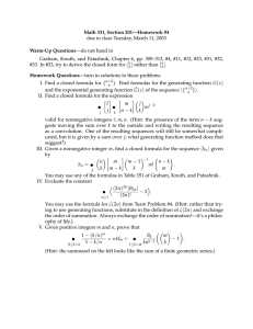 Math 331, Section 201—Homework #4 Warm-Up Questions —do not hand in