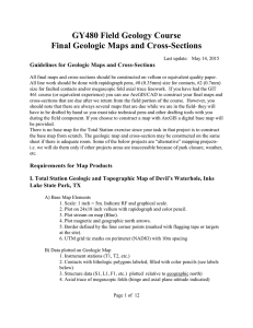 GY480 Field Geology Course Final Geologic Maps and Cross-Sections