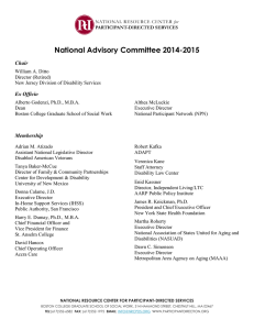 National Advisory Committee 2014-2015 Chair Ex Officio