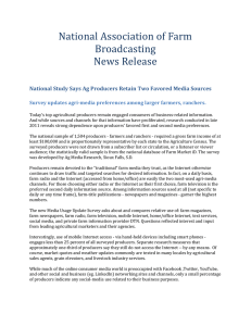 National Association of Farm Broadcasting News Release