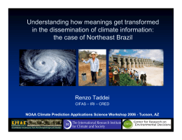 Understanding how meanings get transformed in the dissemination of climate information: