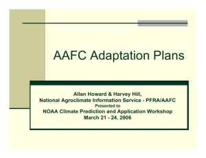 AAFC Adaptation Plans