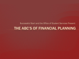 THE ABC'S OF FINANCIAL PLANNING