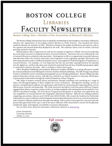 Faculty Newsletter Libraries
