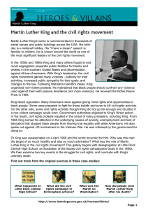 VILLAINS HEROES & Martin Luther King and the civil rights movement
