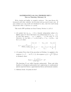 MATHEMATICS 421/510, PROBLEM SET 3 Due on Thursday, February 16