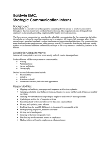 Baldwin EMC, Strategic Communication Interns Background: