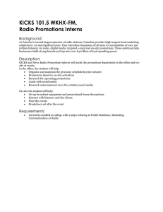 KICKS 101.5 WKHX-FM, Radio Promotions Interns Background: