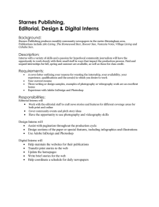Starnes Publishing, Editorial, Design & Digital Interns Background: Description: