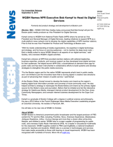 WGBH Names NPR Executive Bob Kempf to Head its Digital Services