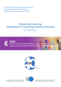 Optimising Learning: Implications of Learning Sciences Research www.oecd.org/edu/whatworks www.oecd.org/edu/ceri