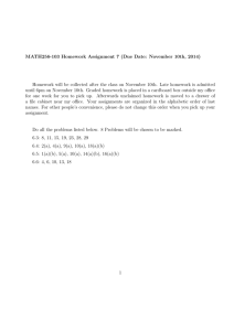 MATH256-103 Homework Assignment 7 (Due Date: November 10th, 2014)