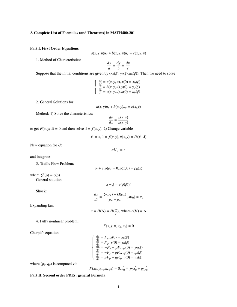 A Complete List Of Formulas And Theorems In Math400 201 Y B This calculator will solve your problems. studylib