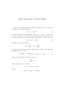Solow Economic Growth Model