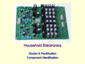 Household Electronics Diodes & Rectification Component Identification