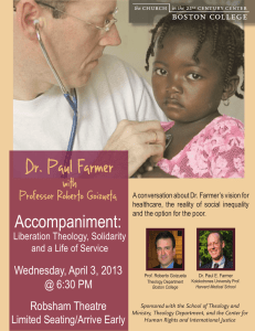 Dr. Paul Farmer with Professor Roberto Goizueta