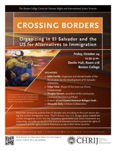 CROSSING BORDERS Organizing in El Salvador and the Friday, October 24