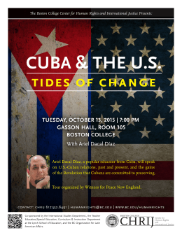 CUBA & THE U.S. Tides of Change