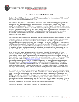 CJA Tribute to Ambassador Robert E. White