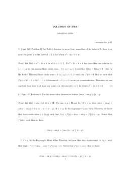 SOLUTION OF HW8 December 04, 2011