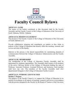 Faculty Council Bylaws
