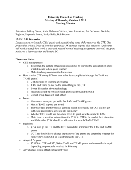 University Council on Teaching Meeting of Thursday October 8 2015 Meeting Minutes