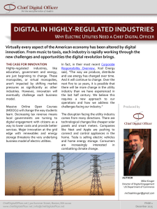 DIGITAL IN HIGHLY-REGULATED INDUSTRIES W E U