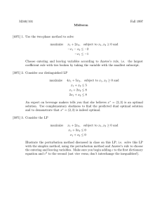 M340/101 Fall 1997 [40%] 1. Use the two-phase method to solve maximize