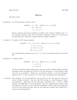 Math 340–102 Fall 1999 [40 points total]