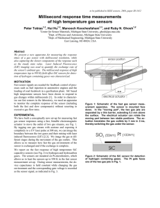 Millisecond response time measurements of high temperature gas sensors Peter Tobias