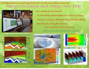 Holiday Season's Greetings from Hui Hu @ Iowa State University