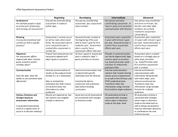 VPSA Department Assessment Rubric  Beginning Developing