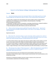Form E-1-A for Boston College Undergraduate Programs  Music A&S