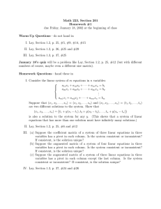 Math 223, Section 201 Homework #1 Warm-Up Questions