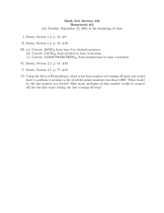 Math 312, Section 102 Homework #2