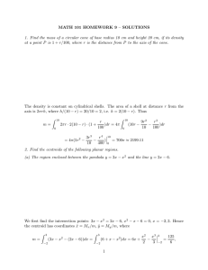 MATH 101 HOMEWORK 9 – SOLUTIONS at a point P is