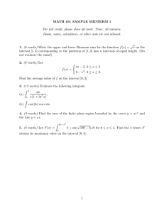 MATH 101 SAMPLE MIDTERM 1