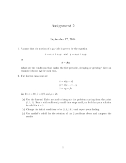 Assignment 2 September 17, 2014
