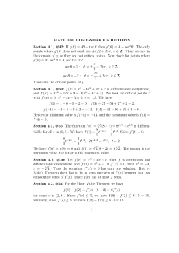 MATH 100, HOMEWORK 6 SOLUTIONS (θ) = 4 − sec
