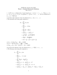 MATH 101, Section 212 (CSP) Week 1: Marked Homework Solutions