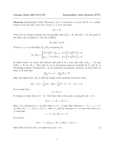 Vantage Math 100/V1C,V1F Intermediate value theorem (IVT)